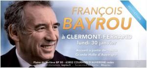 François Bayrou à Clermont-Ferrand