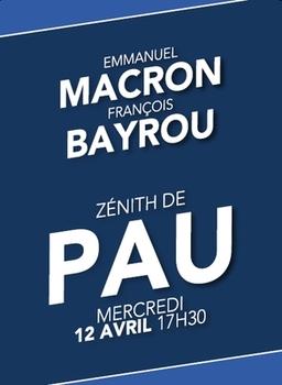 Macron-Barou, PAU mercredi 12 avril 2017