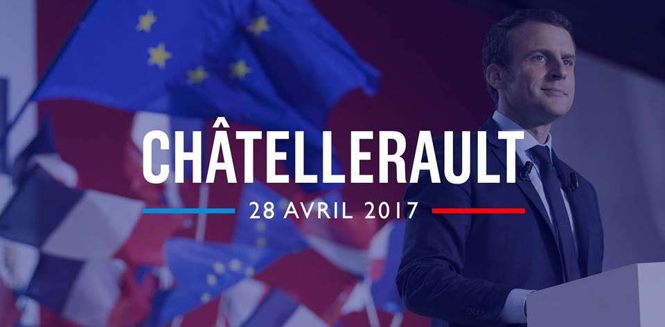 Meeting d'Emmanuel Macron le 28 avril à Chatellerault