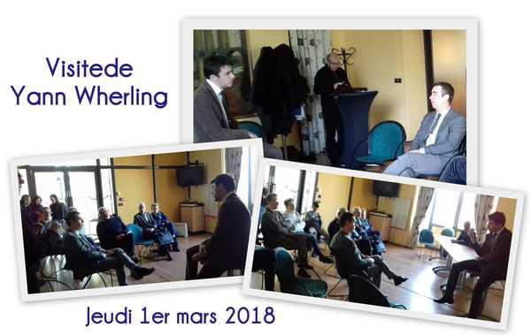 Visite de Yann Wherling secrétaire général du MODEM